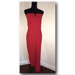 Top shop red jumpsuit